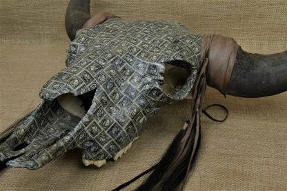 US Stamp Bison Skull Art - Lincoln