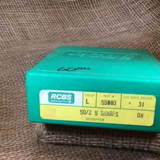 RCBS Reloading Die Kit -- 50/2.5 Sharps