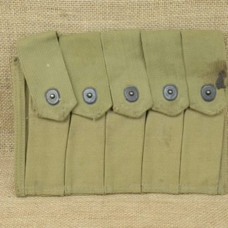 US Military 5 Cell Thompson SMG Magazine Pouch for 20 Round Magazines