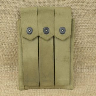 USMC Marked Thompson SMG 3 Cell Magazine Pouch for 30 Round Magazines