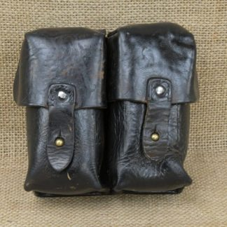 Yugoslavian SKS 2 Cell Magazine Pouch- Black Leather