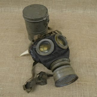 WWI German Gas Mask With Canister