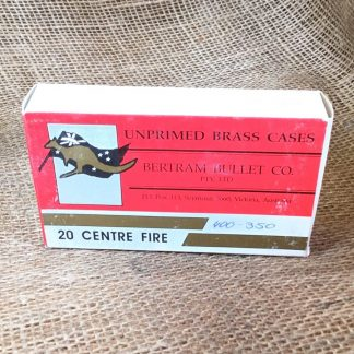 Bertram Bullet Co. Brass for 400-350 - 20 empty cases per box