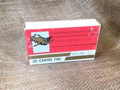 Bertram Bullet Co. Brass for 400-360 - 20 empty cases per box