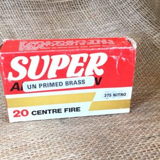 Super Ammunition Unprimed Brass - .375 Nitro Cases