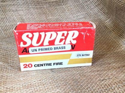 Super Ammunition Unprimed Brass - .375 Nitro Cases
