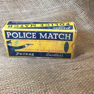 Vintage Peters police Match 45 Colt Auto Ammo - Full Box 50ct