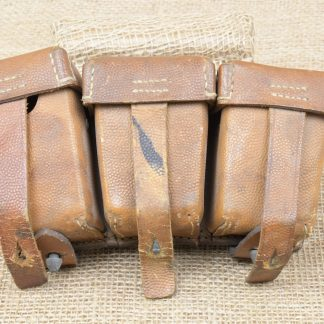 Original WWI German Leather G98 Ammo Pouches