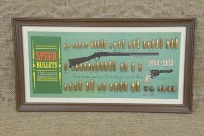 1864-1964 Centennial Speer Bullet Board