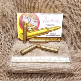 270 Weatherby Magnum Brass - Fired Once