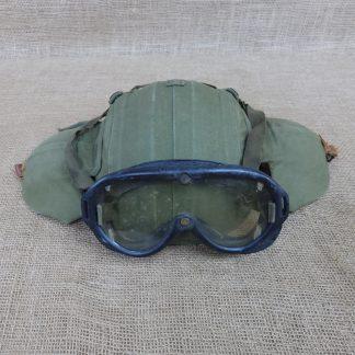 Rare Original WWII M4A2 Flak Helmet With Goggles (1)
